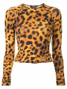 The Upside leopard print wetsuit top - Brown
