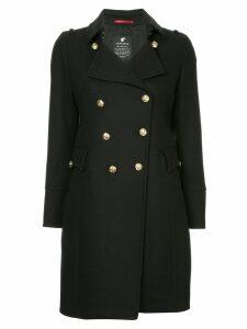 Loveless double-breasted flared coat - Black
