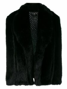 Alexander Wang short faux fur coat - Black