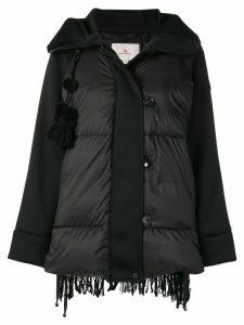 Peuterey padded textured back jacket - Black