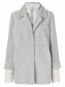 Liska straight-fit jacket - Grey
