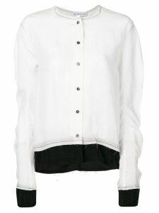 Rejina Pyo contrast stitching shirt - White