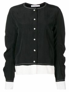 Rejina Pyo contrast stitching shirt - Black