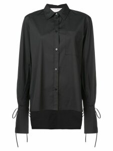 Carolina Herrera tied cuffs shirt - Black