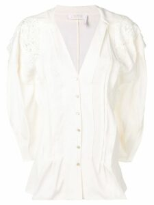 Chloé pintucked blouse - White