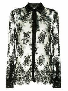 Alexander Wang lace shirt with all over grommet detail - Black