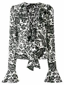 De La Vali floral print blouse - Black
