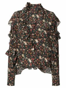 Isabel Marant long-sleeve ruffle blouse - Black