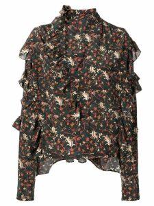 Isabel Marant long-sleeve ruffle blouse - Black