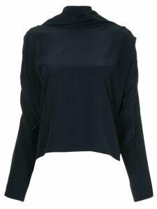 Roksanda oversized high neck blouse - Blue