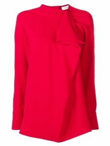 Valentino cady ruffle front top - Red