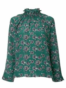 Teija ruffle neck blouse - Green