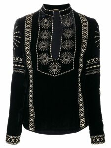 Dodo Bar Or embellished top with slit - Black