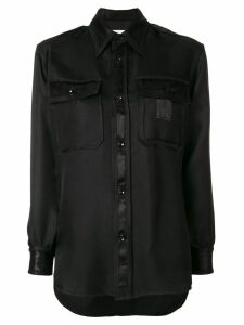 Maison Margiela classic fitted blouse - Black