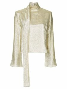Taller Marmo tie neck blouse - Metallic