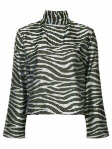 Taller Marmo zebra print blouse - Black