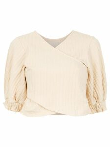 Framed Superb cropped top - NEUTRALS