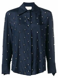 Erika Cavallini embellished fitted blouse - Blue