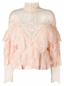 Amen sheer lace blouse - PINK