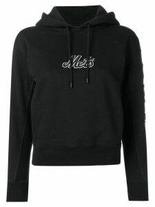 Marcelo Burlon County Of Milan logo embroidered hoodie - Black