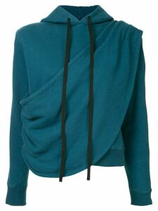Unravel Project terry draped hoodie - Blue