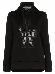 Moncler Grenoble Maglia neck insert hooded jumper - Black