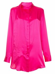 Michael Lo Sordo long tie neck shirt - PINK