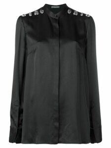 Alexander McQueen bead embellished shirt - Black