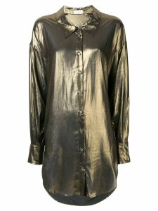 Faith Connexion metallic loose fit blouse - Gold