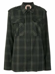Nº21 checked pocket shirt - Green