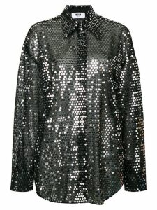 MSGM sequined shirt - Black