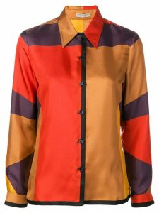 Bottega Veneta colourblock shirt - ORANGE