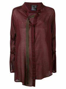 Ann Demeulemeester asymmetric buckle strap shirt - Red