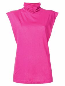 UNRAVEL PROJECT turtle neck tank top - PINK