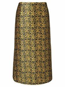 La Doublej jacquard pencil skirt - Black