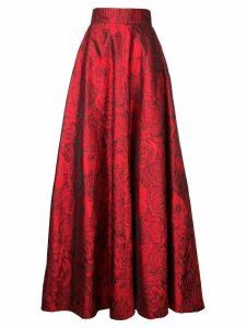 Bambah rose patterned silk skirt - Red