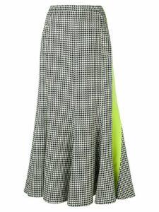 Natasha Zinko houndstooth patterned pleated skirt - Black