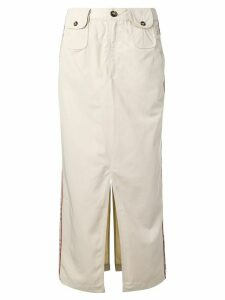 Andrea Crews straight-fit midi skirt - NEUTRALS