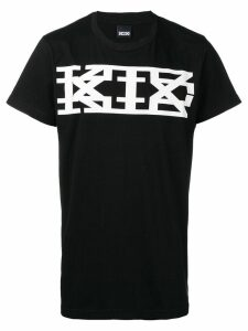 KTZ classic long logo print T-shirt - Black