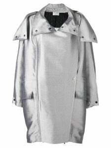 Poiret oversized parka - Silver