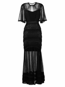 Three Floor Villainess sheer dress - Black