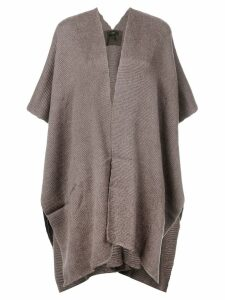 Voz hand-woven Poncho - Brown