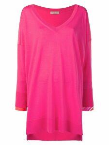 Emilio Pucci Contrast Cuff Wool-silk Jumper - Pink