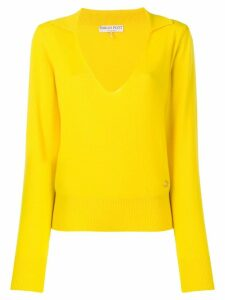 Emilio Pucci cashmere polo jumper - Yellow