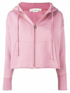 Golden Goose cropped zip hoodie - Pink