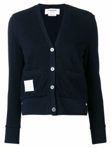 Thom Browne tricolour stripe back cardigan - Blue