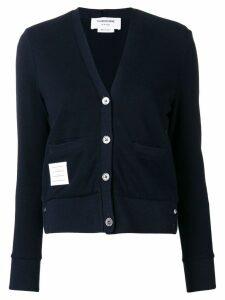 Thom Browne tricolour stripe back cardigan - Blue
