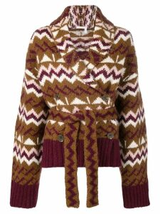 See By Chloé knitted belted cardigan - Brown