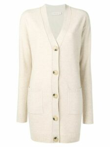 Tory Burch long length cardigan - Neutrals