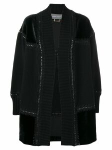 Alberta Ferretti midi knit cardigan - Black